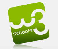 W3Schools logo with reflected shadow